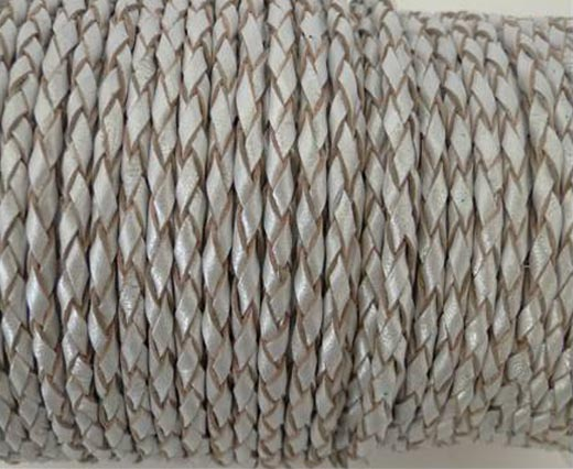 Buy Lederbänder Geflochtenes Leder Rund 4mm  Metallic Stil  at wholesale prices