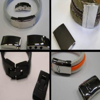 Buy Stainless Steel Magnetic Clasps Flat Leather Clasps   at wholesale prices