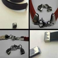 Buy Stainless Steel Findings for Leather cords End Caps for flat leather -- Size 5mm to 10mm at wholesale prices