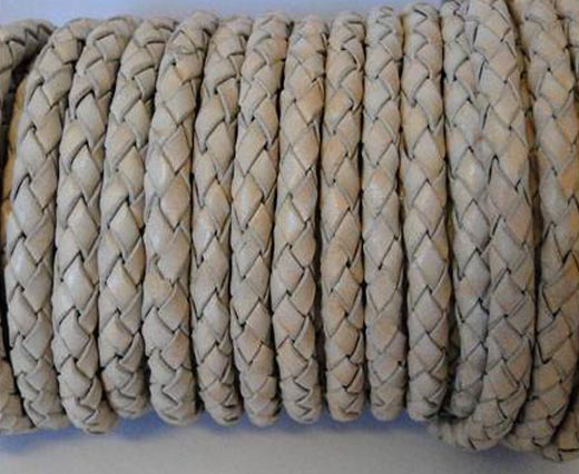 Buy Cordón de cuero Cuero trenzado Redondo 5mm 5mm-Braided-Vintage  at wholesale prices