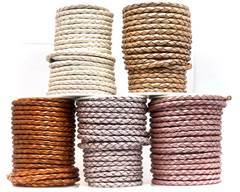Buy Leather Cord Braided Leather Round 5mm 5mm-Braided-Metallic  at wholesale prices