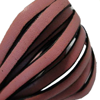 Buy Leather Cord Flat Leather Italian Leather Cord  5mm   at wholesale prices