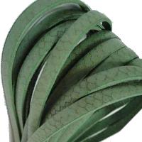 Buy Lederbänder Lederbänder flach Italienische Lederbänder Schlangenprint Leder - 5mm  at wholesale prices