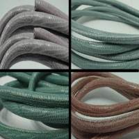 Buy Leather Cord Wholesale Nappa Leather Cords Manufacturer Round Stitched Lizard Prints - 6mm at wholesale prices