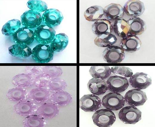 Buy Perline Perle in vetro sfaccettato Perline in vetro - foro 5mm   at wholesale prices
