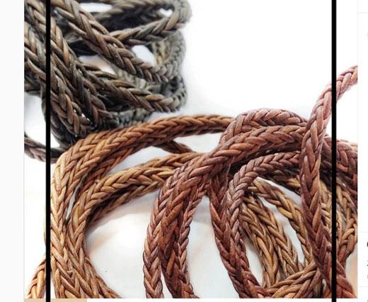 Buy Lederbänder Lederband geflochten Rund Lederbänder rund geflochten Twisted Style 6mm  at wholesale prices