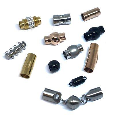 Buy Chiusure per Gioielli Chiusure Magnetiche Chiusure magnetiche in acciaio inox Fermagli tondi  7mm - 8mm  at wholesale prices