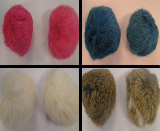 Buy Autres Fourrures et plumes Fourrure de lapin - 7cm  at wholesale prices