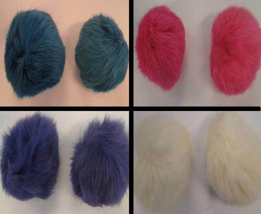Buy Autres Fourrures et plumes Fourrure de lapin - 8cm  at wholesale prices