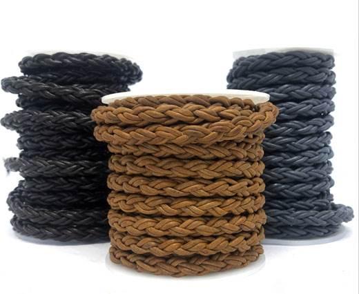 Buy Lederbänder Lederband geflochten Rund Lederbänder rund geflochten Bolo-Style 6mm  at wholesale prices