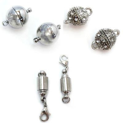 Buy Fermoirs  Fermoirs magnétiques Fermoirs aimantés en zamac Fermoirs pour colliers en zamac Antique Silver  at wholesale prices