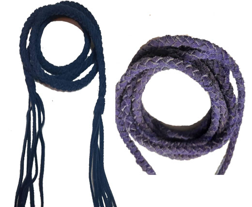Buy Cordoncini di cuoio Cordoncini e nastri scamosciati Braided Suede   at wholesale prices