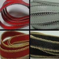 Buy Leather Cord Nappa Leather Nappa Leather with Stitched Stainless Steel Chains 10mm  at wholesale prices