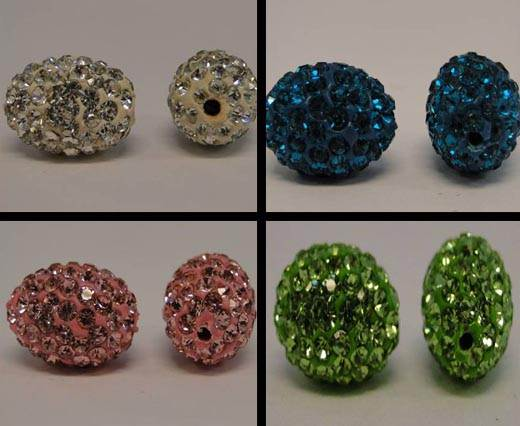 Buy Beads Crystal Beads in different Styles Shamballa Beads  Oval Shape  at wholesale prices