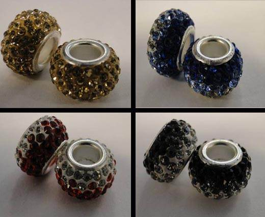 Buy Beads Crystal Beads in different Styles Shamballa Big Hole Beads  at wholesale prices