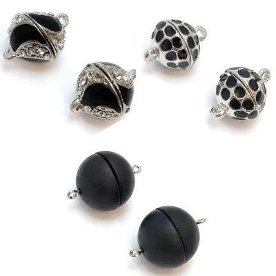 Buy Fermoirs  Fermoirs magnétiques Fermoirs aimantés en zamac Fermoirs pour colliers en zamac Fermoirs pour colliers noir  at wholesale prices