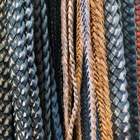 Buy Leather Cord Braided Leather Cord Flat  at wholesale prices