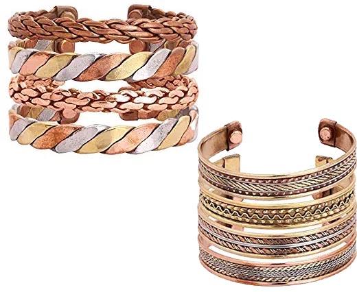 Buy Componenti per gioielli in Zamak e Rame Braccialetti di metallo in ottone e rame Designer Copper and Brass Cuffs  at wholesale prices