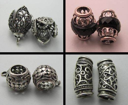 Buy Beads Silver Plated Metal Beads  Cast Beads  at wholesale prices