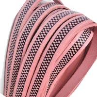 Buy Lederbänder Lederbänder flach Italienische Lederbänder Schachbrett-Stil - 10mm  at wholesale prices