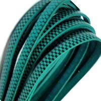 Buy Lederbänder Lederbänder flach Italienische Lederbänder Schachbrett-Stil - 5mm  at wholesale prices