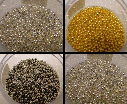 Buy Beads Silver Plated Metal Beads  Crimp Beads  at wholesale prices