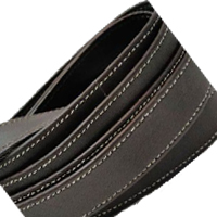 Buy Leather Cord Nappa Leather Cord Flat Nappa Leather Double Stitched   at wholesale prices