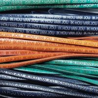 Buy Leather Cord Text Embossed Leather  Dutch Text  Embossed - 5 mm  at wholesale prices