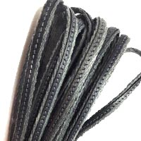 Buy Leather Cord Flat Leather Italian Leather Cord  Fabric Cord with Leather   at wholesale prices
