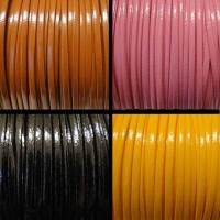 Buy Bead String material and Faux Cords Eco Flat Leather (Fancy Style) Fancy - 3mm  at wholesale prices