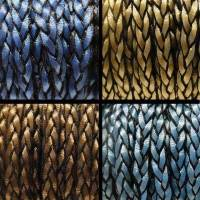 Buy Bead String material and Faux Cords Flat Faux Braided Leather Cords 8mm  at wholesale prices