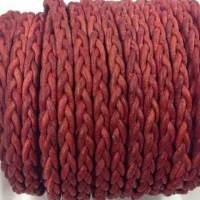 Buy Cordón de cuero Cuero trenzado Plano Plano 3*2mm  at wholesale prices