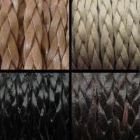 Buy Leather Cord Braided Leather Flat Flat Braided Leather Cords 15mm*4mm  at wholesale prices