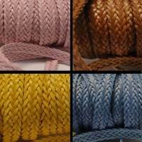 Buy Leather Cord Braided Leather Flat Flat Braided Leather Cords Style 2 - 12mm  at wholesale prices