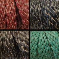 Buy Leather Cord Braided Leather Flat Flat Braided Leather Cords Style 4 -18mm  at wholesale prices