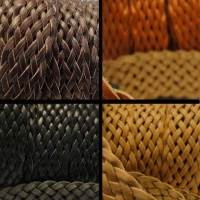 Buy Leather Cord Braided Leather Flat Flat Braided Leather Cords Style 5 - 25mm  at wholesale prices