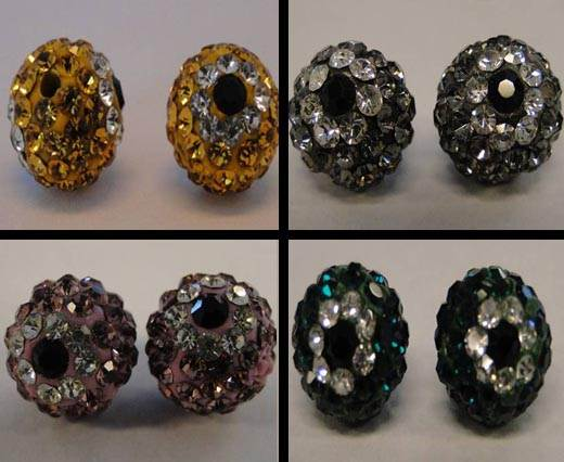 Buy Perles Shamballa Rondes Fleurs - 10mm  at wholesale prices