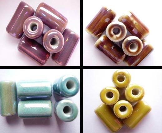 Buy Beads Ceramic Beads Hollow Tube  at wholesale prices