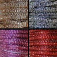 Buy Cordones Cuero Sintético Mesh Cords  Hollow knit  -4mm - Cadenas   at wholesale prices