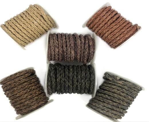 Buy Lederbänder Lederband geflochten Rund 6mm runde Bolo Twist Lederbänder  at wholesale prices