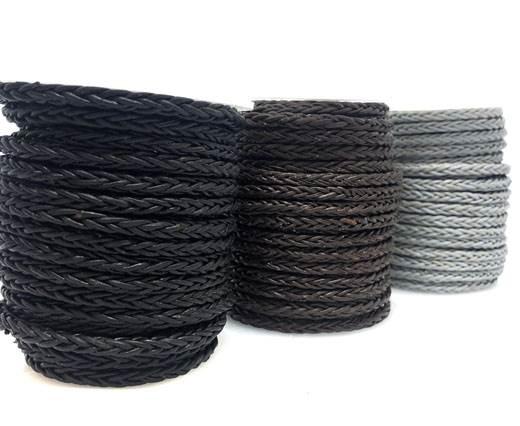 Buy Lederbänder Lederband geflochten Rund 4mm quadratisch geflochtene Bolo Lederbänder  at wholesale prices