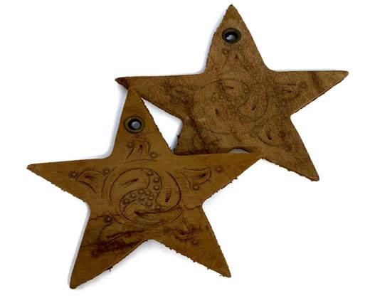 Buy Leather Accessories  Leather Embellishments Star Shapes   at wholesale prices