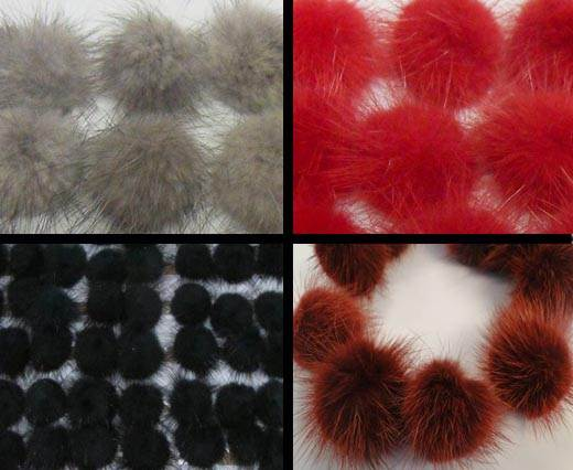 Buy Autres Fourrures et plumes Pompons - Vison  at wholesale prices