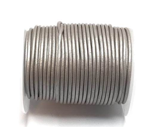 Buy Leather Cord Round Leather 2mm  Metallic   at wholesale prices