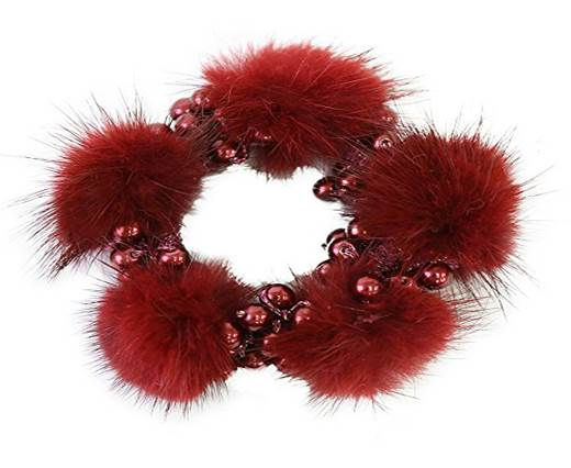 Buy Jewelry Making Supplies Fur and Feathers for Jewelry and Hats Mink Fur Beads  at wholesale prices