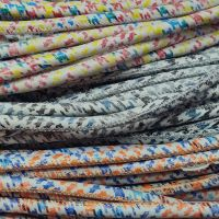 Buy Leather Cord Round Stitched Nappa Leather Mixed Prints in 6mm  at wholesale prices