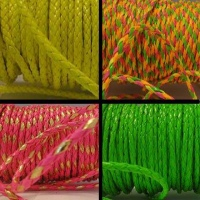 Buy Cordoncino in eco pelle Cordoncini in pelle sintetica intrecciata - colori fluorescenti  at wholesale prices