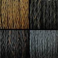 Buy Leather Cord Braided Flat Plaited Round - 14mm  at wholesale prices