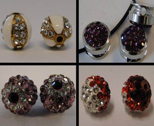Buy Beads Crystal Beads in different Styles Shamballa Round Crystals  at wholesale prices