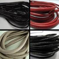 Buy Leather Cord Wholesale Nappa Leather Cords Manufacturer Round Stitched Nappa Round Leather Cords - Plain Styles - 4 mm at wholesale prices